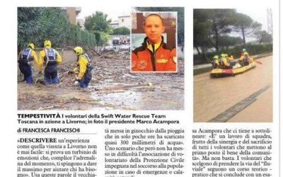 Ore tragiche a Livorno. In campo i volontari SWRTT