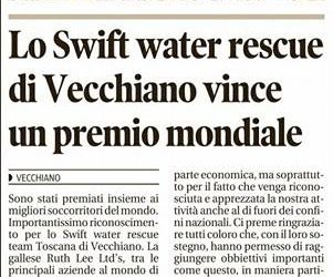 Lo Swift Water Rescue vince un premio mondiale
