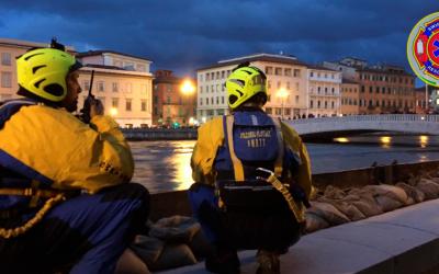 Piena Arno 2019: supporto per la sicurezza dei militari nell'installazione dei panconcelli